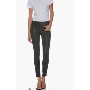 Paige Hoxton Ankle Jeans - Black Fog Luxe Coating